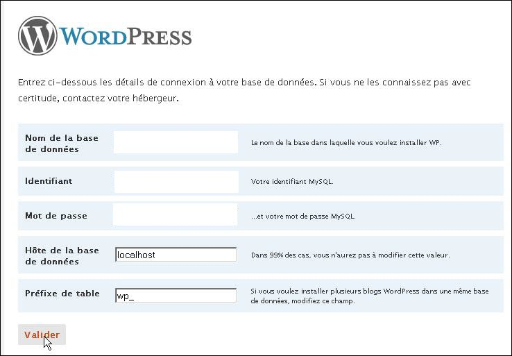 comment creer heberger site wordpress